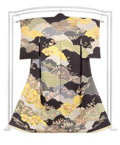 【吉澤の友禅】 本手加工十日町友禅訪問着 「雲取四季花吉祥文」 名門の正統派フォーマル! フォーマルシーンに純古典の華やぎ。 京都きもの市場