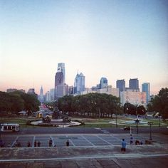 View from the #Philadelphia Art Museum steps.