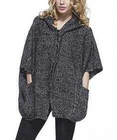 Look what I found on #zulily! Black Knit Wool-Blend Swing Cardigan - Women #zulilyfinds