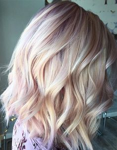 Rose Gold Blonde Hairstyles for Short Hair