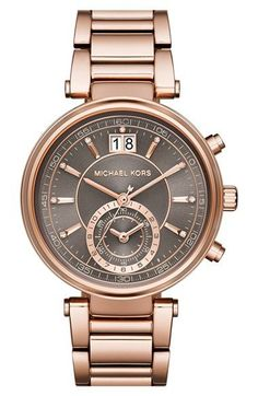 MICHAEL Michael Kors 'Sawyer' Bracelet Watch, 39mm available at #Nordstrom