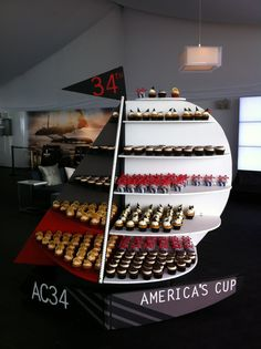 From Food Network's Cupcake Wars Winner: Cupcakes on display in Club 45