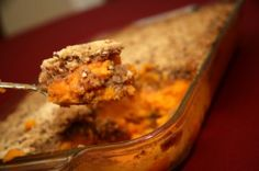 Gluten Free Sweet Potato Casserole with 3 Topping options!  YUM.