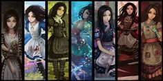 AMR dresses Fanart from Alice: Madness Returns. Fanart of AMR Dresses Alice Liddell, Alice Madness Returns, Alicia Wonderland, Dark Alice In Wonderland, Pandora Hearts, Lewis Carroll, Fantasy Kunst, Fantasy Art, Manga Anime