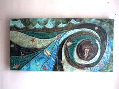 I LOVE THIS!  She cast her fears into the Sea ocean beach waves by shellieartist, $400.00