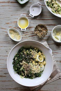 Tuna Kale and Egg Salad by joy the baker