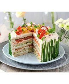 Sandwich Cake Source by Related posts: I'd like to build my own sandwich from this lovely garden bouquet. At a lad… Avocado-Kichererbsen-Sandwich Sandwich Place, Bread Place, Savory Pie, Pies hearty filled, Swedish … Sandwhich Cake, Sandwich Torte, Sandwich Recipes, Cake Recipes, Appetizer Sandwiches, Meat Appetizers, Appetizer Recipes, Simple Appetizers, Party Appetizers