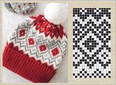 Вязание 💖спицами, 💖крючком и 💖на машине. — Фото | OK.RU Fair Isle Knitting Patterns, Knitting Charts, Knit Patterns, Hand Knitting, Sewing Patterns, Knitted Hats, Crochet Hats, Norwegian Knitting, Tapestry Crochet