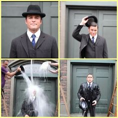 Yannick Bisson doing the ice bucket challenge in costume ❤ love this