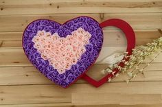 100 Rose Soap Flowers Pink Heart-Shape and Purple. For Only $69.99