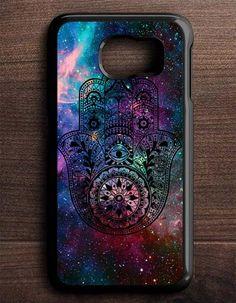 Hamsa Hand Tattoo Indian Nebula Samsung Galaxy S6 Edge Case