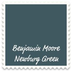 ben moore's newburg green  Accent wall in office and Living room or dining room