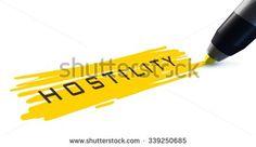 Hostility word. - stock photo