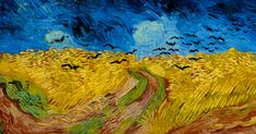 In July Vincent Van Gogh painted one of his best-known artworks, Wheatfield with Crows. The painting is on display in the Van Gogh Museum, Amsterdam, and has long been thought of as van Gogh's last painting. Vincent Van Gogh, Van Gogh Arte, Van Gogh Paintings, Felder, Oil Painting Reproductions, Oil Painting On Canvas, Les Oeuvres, Original Paintings, Portraits
