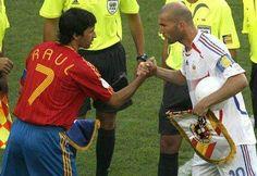Raúl y Zidane.