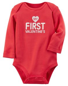 With a sweet Valentine's Day slogan and expandable shoulders, this babysoft cotton bodysuit pairs perfectly with cozy pull-on pants for quick changes and easy outfits.