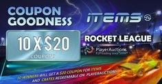 Free coupons for Items and Crates are up for grabs in our Rocket League Giveaway. Full Throttle, Free Coupons, Giveaways, Crates, Snapchat, Burns, Join, Party, Receptions