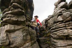 Błędne Skały. Rezerwat przyrody Błędne Skały położony jest na terenie Gór Stołowych i obejmuje obszar 21 hektarów. To istny labirynt złożony z zadziwiających form skalnych, wąskich przejść, szczelin i tuneli, między którymi biegną nawet 10-metrowe korytarze. Kształty znajdujących się tu skałek są niesamowite. Można wyróżnić głowy, grzyby, wysokie baszty, bramy, kamienne postacie z piaskowca.