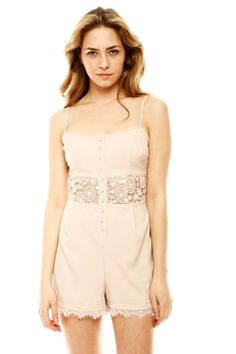 Lace Midriff Romper. I would never wear this because I don't wear shorts because I have chicken legs, but it is cute.