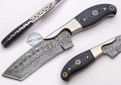 "7.75"" Custom Hand Made Beautiful Damascus Steel Hunting Knife (AA-0193-12) #KnifeArtist"
