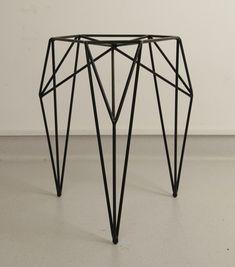 "arttickles: "" STOOL / 2013. A stool made of steel rods and powder coated. By Olga Szymańska in cooperation with Joanna Zaboklicka and Maria Rzeczycka. """