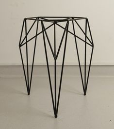 "arttickles: "" STOOL / 2013. A stool made of steel rods and powder coated. By Olga Szymańska in cooperation with Joanna Zaboklicka and Maria Rzeczycka. """