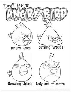 Don't be an Angry Bird anger management (for kids)