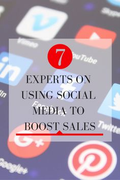 7 Experts On Using Social Media To Boost Sales | Out of all the struggles Social Media Marketers face, boosting sales which ultimately justifies the need for an increased budget, is their biggest pain-point. Here, 7 Social Media experts share their tips on Social Media Marketing to boost sales & advice on how to measure your success. Learn more at   http://keyhole.co/blog/7-expert-tips-using-social-media-boost-sales/ | Pinterest for Business Tips by Pinterest Expert Anna Bennett