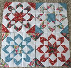 Quilting Land: Fireworks Quilt Block