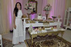 Vestido renda na festa da minha princesa