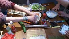 Making Sushi with friends!