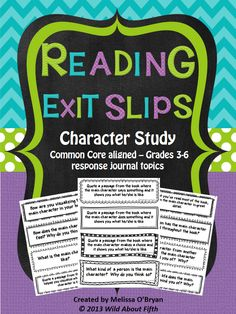 Wild about fifth grade: Using Reading Exit Slips to provide purpose & accountability during independent reading time Reading Strategies, Reading Activities, Teaching Reading, Teaching Ideas, Guided Reading, Reading Goals, Reading Lessons, Readers Workshop, Writing Workshop