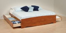 King 6 drawer Platform Storage Bed Cherry MPN CBK8400K *** Check out this great product. (This is an affiliate link)