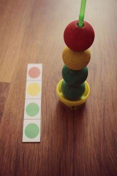 Reihen bilden nach Farben. DIY
