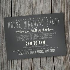 LOVE the font combos. I need to have a party soon!!! Party Invitation, where to register and put email address