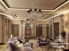 Mansion interior has the style of Art Deco, filled with luxurious and ornate des… - Modern Mansions, House Design, Apartment Design, Apartment Interior Design, Mansion Interior, Luxurious Bedrooms, Art Deco, Gypsum Design, Luxury Interior
