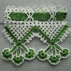Crochet Borders, Crochet Flower Patterns, Filet Crochet, Baby Knitting Patterns, Crochet Motif, Crochet Doilies, Crochet Flowers, Crochet Lace, Crochet Stitches