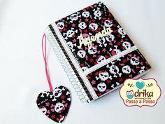 Passo a Passo: Caderno Decorado Com Tecido