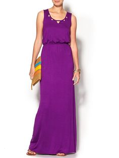 Tinley Road Cut Out Maxi Dress - Dark purple by: Tinley Road @Piperlime