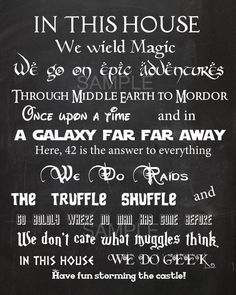 in this house we believe in magic poster - Google Search