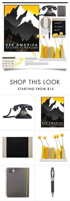 """Mountains."" by s-elle on Polyvore featuring interior, interiors, interior design, дом, home decor, interior decorating, Barneys New York, Dot & Bo, Letts of London и Montblanc"