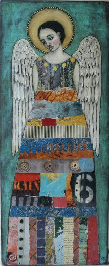 """I'll Be There"" by Jane Spakowsky. Beautiful mixed media angel"