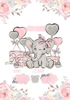 6 Best Ideas for Recycled Craft Projects Baby Elephant Drawing, Baby Animal Drawings, Elephant Love, Cute Drawings, Elephant Party, Elephant Nursery, Baby Posters, Baby Painting, Cute Disney Wallpaper