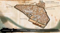infografía 3d del plano de la villa de conill del siglo XVII