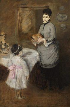 'Eva Gonzalès - Afternoon tea' Canvas Mounted Print by Impressionist Masters Julie Manet, Dallas Museums, Berthe Morisot, Claude Monet, French Artists, Love Art, Art History, Artwork, Canvas Prints