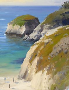 Point Lobos Coastline by Jesse Powell Oil ~ 18 x 14 Western Landscape, Coastal Art, Seascape Paintings, Brush Strokes, Anthropology, Beautiful Paintings, Rivers, Seaside, Beaches