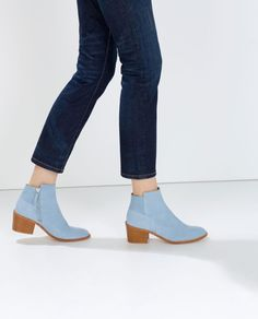 Blue suede boots fro