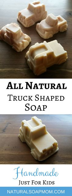 Kids will love these all natural homemade truck shaped bar soaps. Fun shapes makes bath time more fun! These soaps make a great gift that even Mom will love. I hope you check out my All Natural Homemade Soap Business on Etsy! Lots of all natural soaps #handmade #handmadesoap #allnaturalsoap #allnatural #soapmaker #bathtub #bathtime #soap #soapshare #soapmakingbusinessetsy