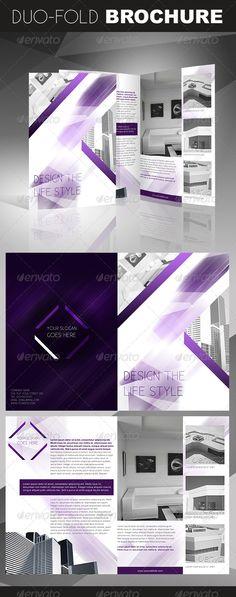 Crystal Duo-Fold / Bi-Fold Brochure  —  EPS Template • Download ➝…