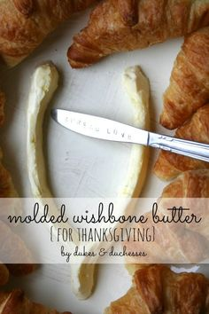 wishbone-shaped butter for thanksgiving